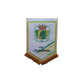 Banderín UD Los Barrios 25x18 cm Blanco Oro